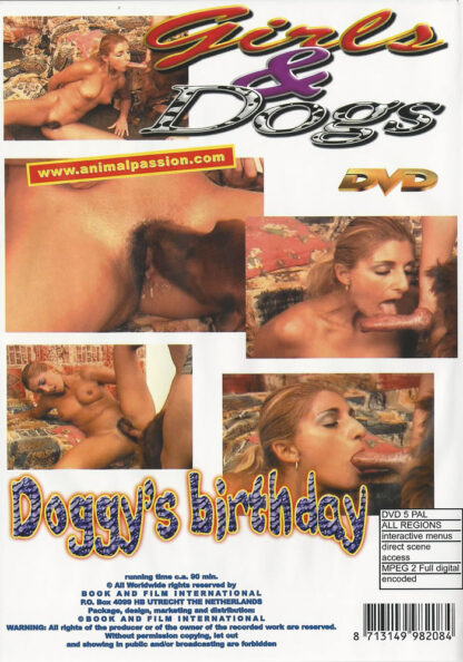 animal dvd doggys birthday back