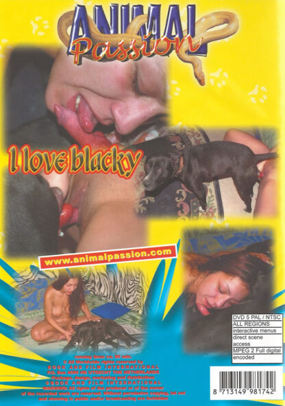 I Love Blacky - Animal Passion Animal Sex DVD