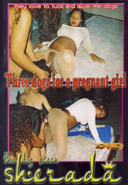 Three Dogs for a pregnant girl - The dog queen Sherada - Animal Sex DVD